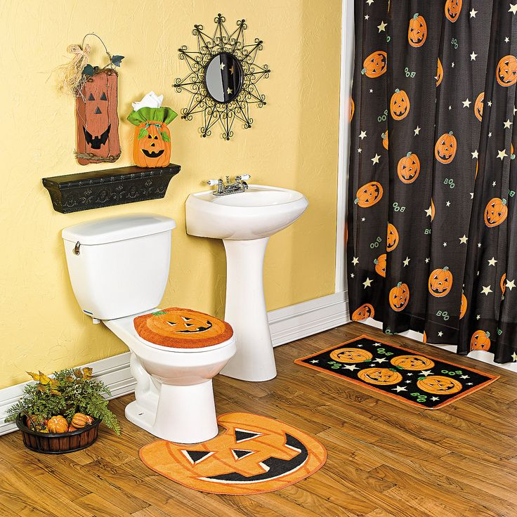 Jack O  Lantern Bath Collection   I ve been looking for a  Halloween Decor. 17 Best ideas about Halloween Bathroom on Pinterest   Halloween