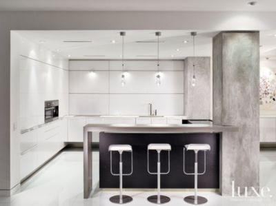 Sleek Minimalist Kitchen Modern Kitchens Luxe Source Interior Design Pinterest