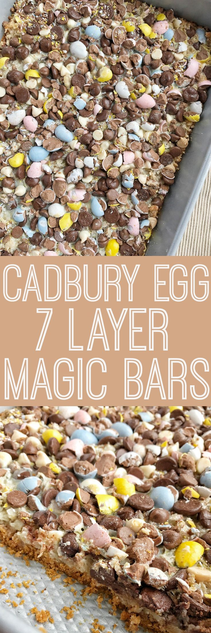 Cadbury Egg 7 Layer Magic Bars