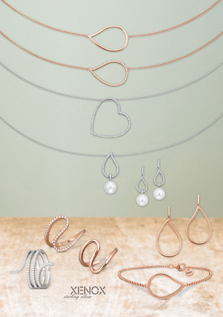 #XENOX sterling #silver #necklaces, #earrings and matching #rings and #bracelets.