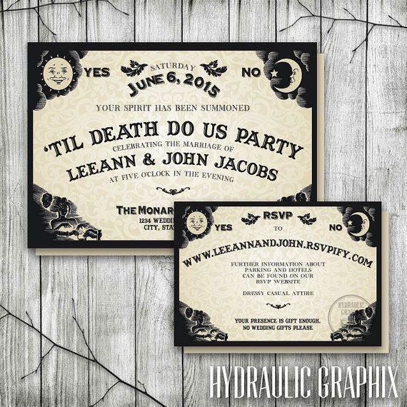 Ouija Board Invitation for Wedding Reception by HydraulicGraphix