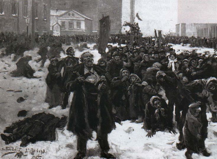 1905 revolution bloody sunday 22 janvier 1905 : dimanche rouge à saint-pétersbourg bloody sunday was a  massacre on jan 22 1905 in st petersburg, russia, where unarmed, peaceful.