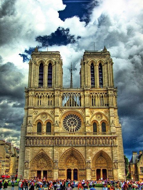 Notre Dame ~ Paris, France. So beautiful. Went to Palm Sunday services here in 1977.