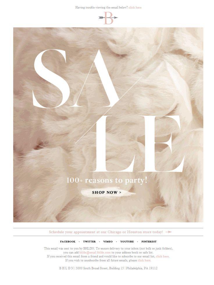 BHLDN #sale #email #design