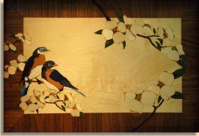 Blue Birds - Marquetry