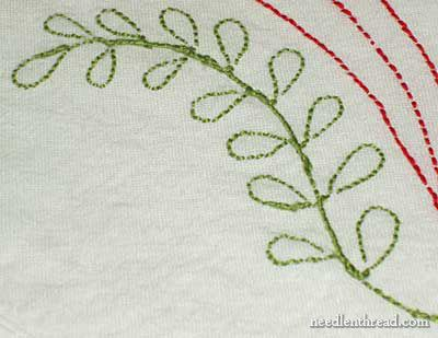 The Back of Embroidery on a Flour Sack Towel