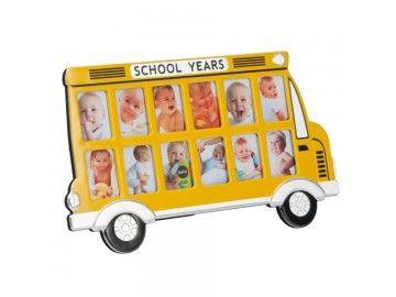 Cadre photo bus scolaire - 12 photos 5x8