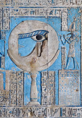 'The waxing moon and the Eye of Horus at Dendera.' Astronomical ceiling…