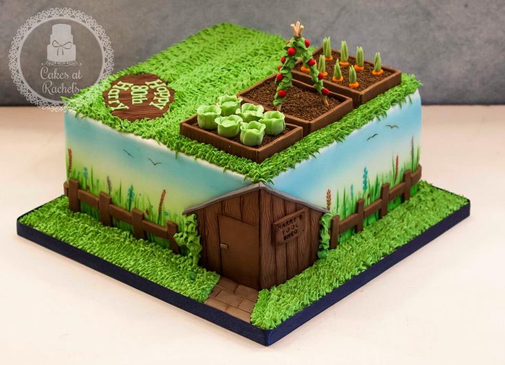 ... Garden Design Birthday Cake