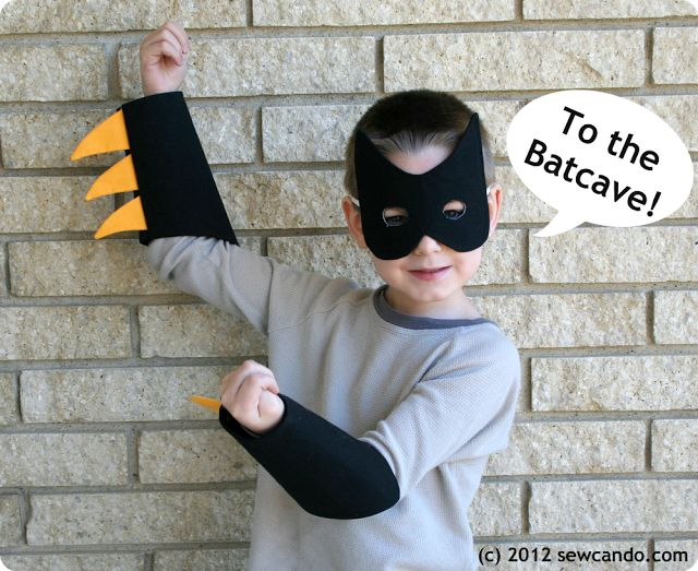 Sew Can Do: Batman Dress-up Set Pattern & Tutorial, WEDNESDAY, APRIL 25, 2012. I know, I know, Batman's not a monster, but the cuffs could be for a monster, right?
