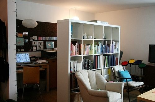 8 best images about living room office on pinterest for Office in the living room ideas