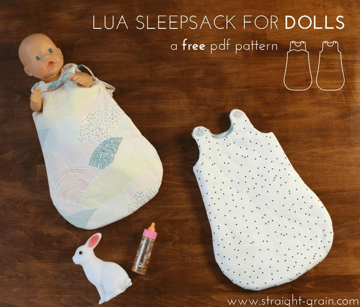 Baby Accessories Free pattern: Lua for dolls (+ fabric GIVE-AWAY) (StraightGrain)