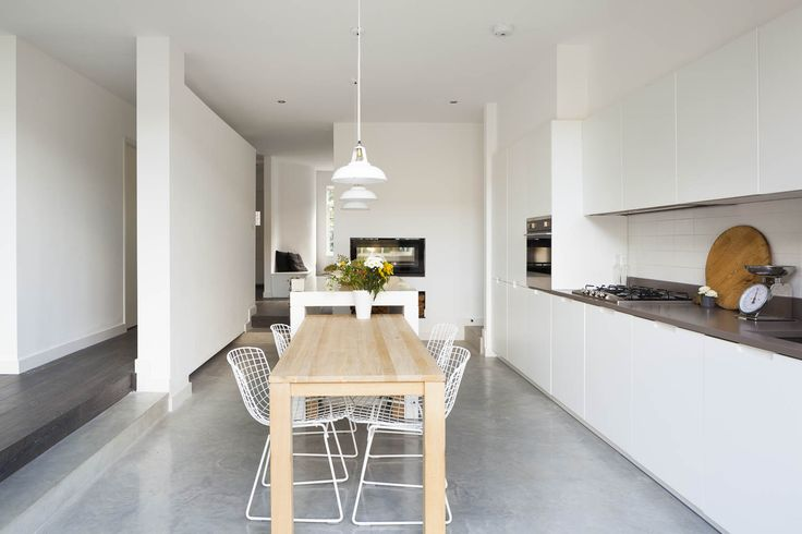 Annis Road. Kitchen, polished concrete floors