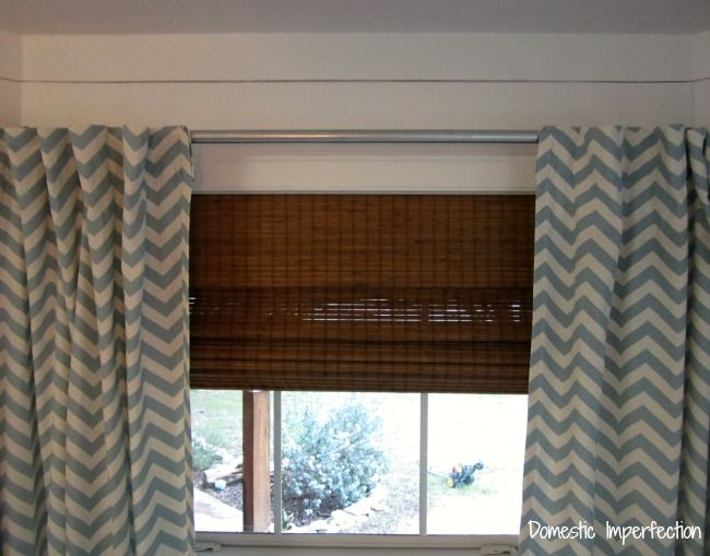 Dining Room Windows Done White Plank Walls Chevron Curtains And Planked Walls