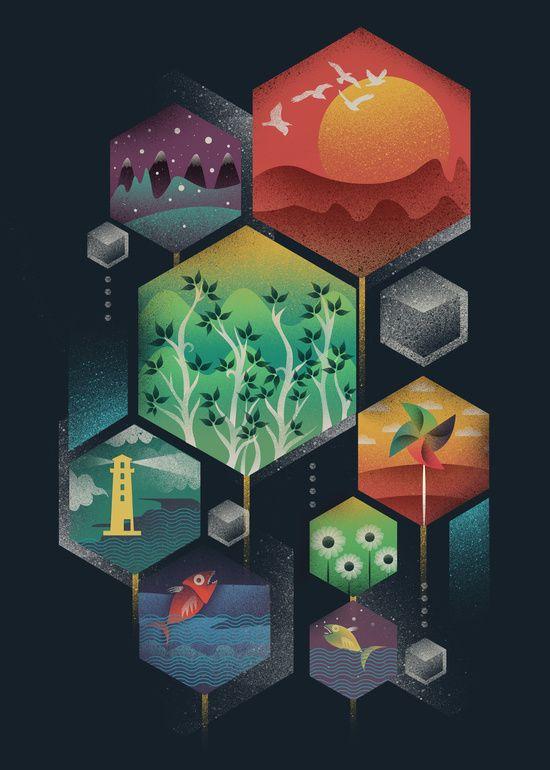 Geometrical Wonders Canvas Print by Dan Elijah G. Fajardo