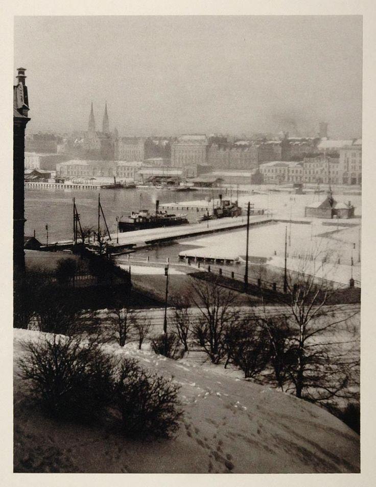 The Katajanokka harbour in central Helsinki, view from Uspenski Cathedral…