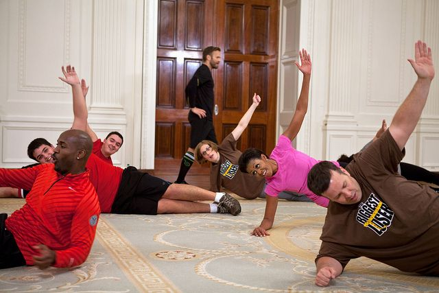 The First Lady gets moving with The Biggest LoserIslands Style, Mornings Yoga, The Biggest Loser, Michelle Obama, Michele Obama, Work Out, First Lady, White House, Workout