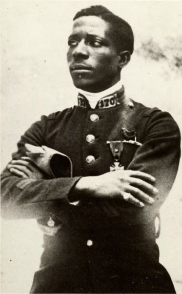 Eugene Jacques Bullard (9 October 1894 – 12 October 1961) was one of the only two black military pilots in World War I awarded the Croix de Guerre and the Legion of Honor. Born in Columbus, Georgia, he traveled to Paris and decided to stay at the outbreak of the war in 1914, enlisting for service with the French Foreign Legion. It was at Verdun in 1916 that he was wounded while flying with the Lafayette Flying Corps and awarded the Croix de Guerre for his service.