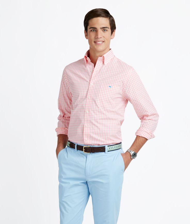 Derby party shirt idea? Hightide Gingham Slim-Fit Tucker Shirt for Men - Vineyard Vines
