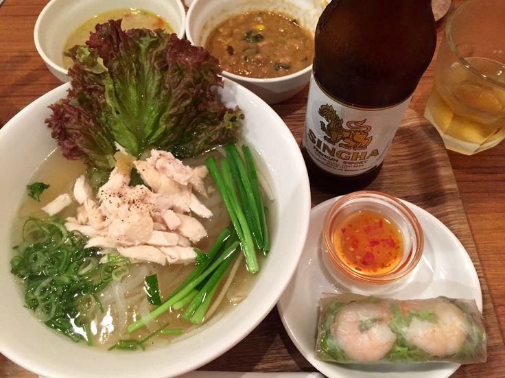 米麺のランチはカレー2種類が食べ放題つきのフォー