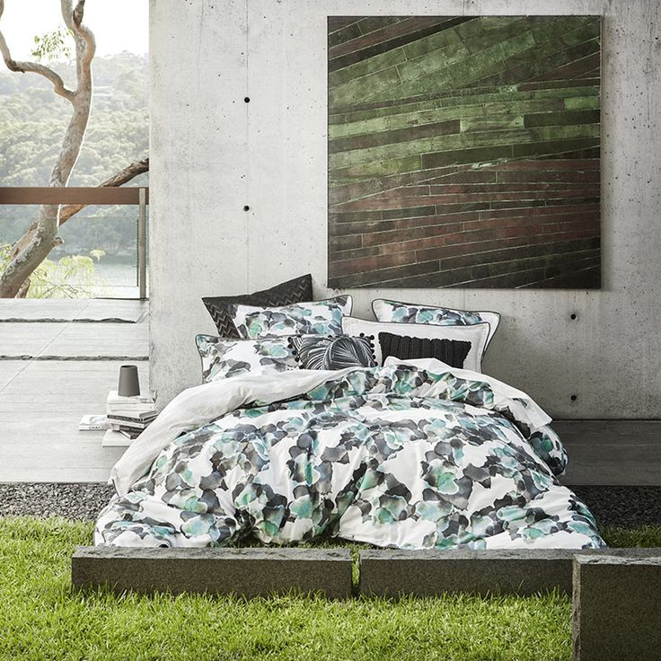 Fiore Jade Quilt Cover Set By Logan and Mason LTD