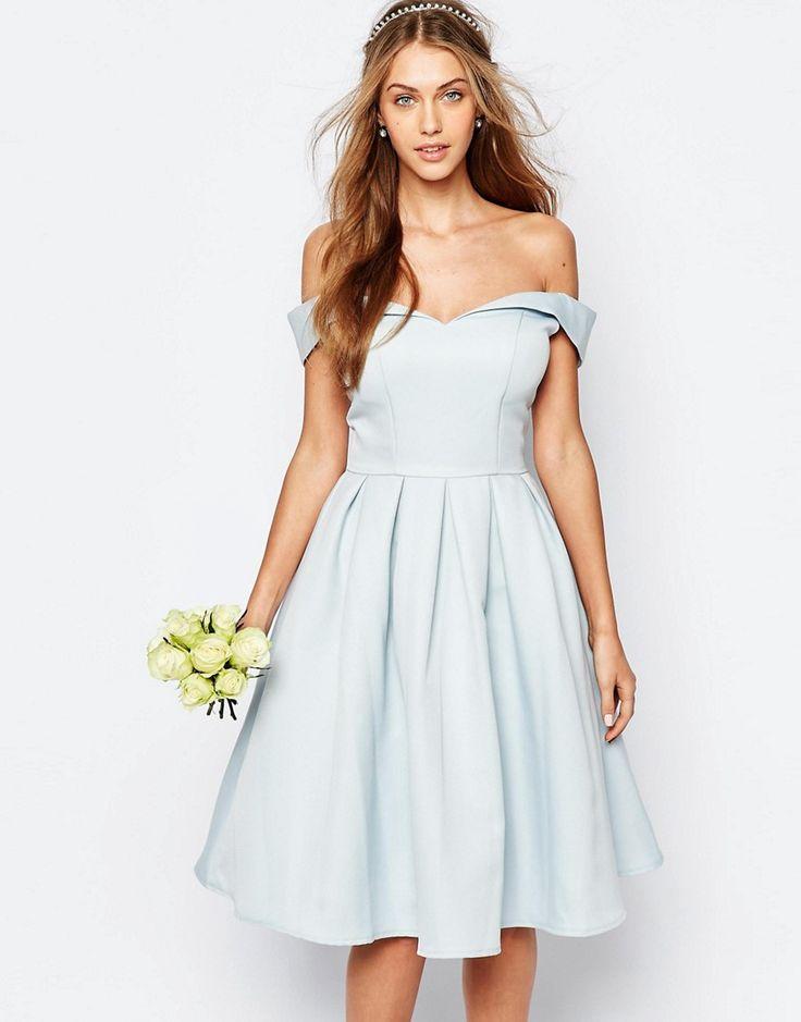 Chi+Chi+London+Midi+Prom+Dress+with+Full+Skirt+and+Bardot+Neck