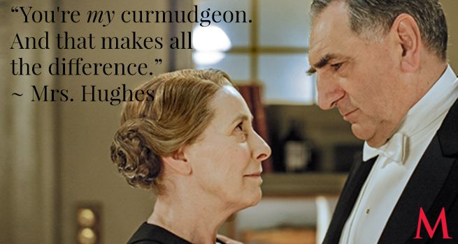 Downton Abbey Season 6 Episode 8 ..Phyllis Logan and Jim Carter ..Carson hasn't shown his best side lately, from his picky eating to his disregard for Mrs. Patmore's woes to his downright cruelty to Thomas. But Mrs. Hughes, his better half, understands him..