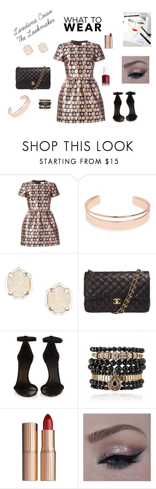 """total look cocktail"" by loredanacossu on Polyvore featuring RED Valentino, Leith, Kendra Scott, Chanel, Isabel Marant, Creatures Of The Wind, Samantha Wills, Charlotte Tilbury and Essie"