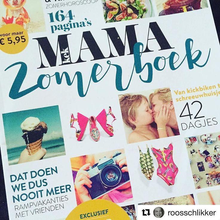 """#Repost @roosschlikker with @repostapp  """"Mam! Dat zijn wij!"""" Soms heb je een fotoshoot met visagie styling en andere toeters en bellen soms maak je op een strandbedje met je telefoon even een snel kiekje als je kind je kust. En beland je zowaar samen op de cover een prachtblad! #kekmama #vakantie #vakantieboek #zomer"""