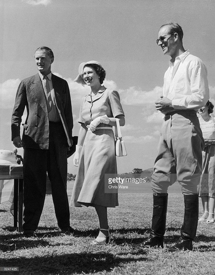 Princess Elizabeth, February 6, 1952 attends a polo match in Nyepi, Kenya,