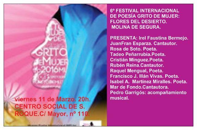 Acantilados de papel: VI Festival internacional de poesía Grito de Mujer...