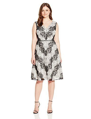 """Product review for Adrianna Papell Women's Plus-Size Chevron Lace Striped Dress.  - Chevron striped lace v-neck sleeveless fit and flare with seamed waist       Famous Words of Inspiration...""""Never say anything about yourself you do not want to come true.""""   Brian Tracy — Click here for more from Brian..."""