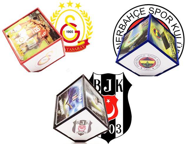 Lisanslı 3d Sihirli Dönen Küp Fotoğraf Çerçevesi ( Beşiktaş - Fenerbahçe - Galatasaray )