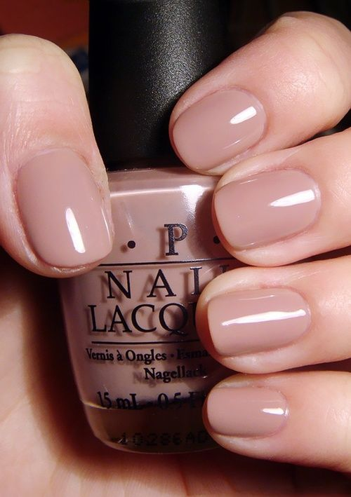 Nude short nails- very pretty and healthy colour