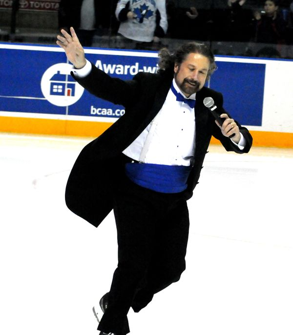 """Mark Donnelly is a Canadian singer famous for singing the national anthem """"O Canada"""" at the National Hockey League's Vancouver Canucks home games."""