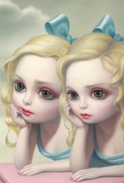 mark ryden art This style is really appealing to me. I am going to try the no out line look like this piece in my illustration.