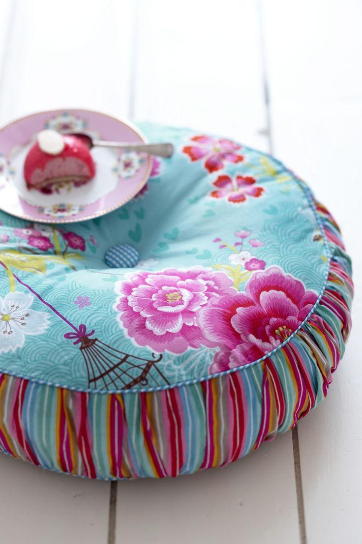 Ladela Trendy Slapen (beddenzaak) :: PiP Studio bed-textiel :: pip_dekbedovertrek_birds_of_paradise_groen_kussen_1