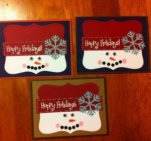 Free Shipping Lot Of 3 Handmade Christmas Cards With Envelopes Stampin Up
