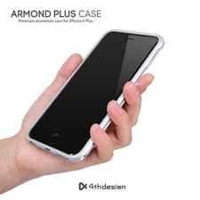 4thdesign Armond Aluminium Metal Bumper Cases Covers for iPhone 6 Plus Silver