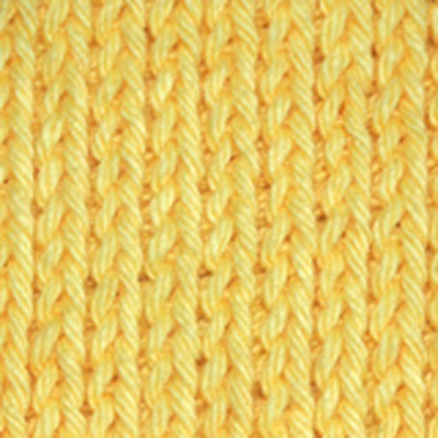 Learn How to Knit with a Crochet Hook: Tunisian Knit Stitch -- The Front Side of This Stitch Looks Just Like the Stockinette Stitch in Knitting, but It's Crocheted.