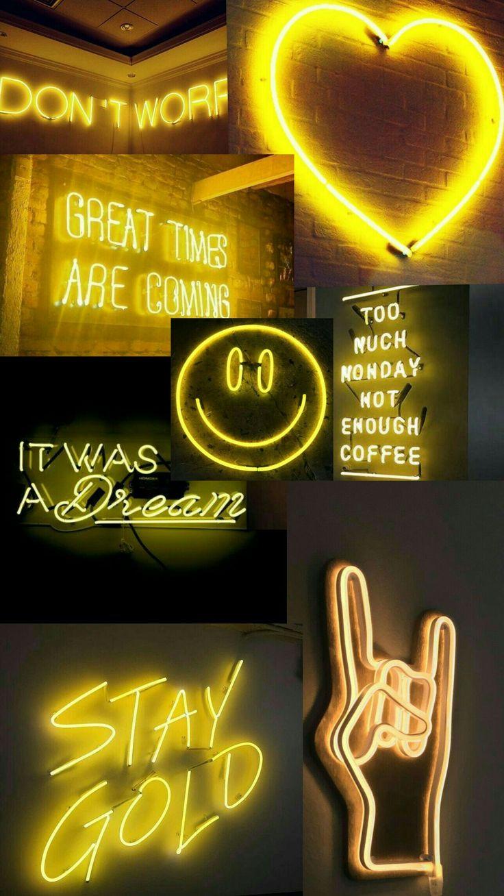 Neon yellow aesthetic di 2020