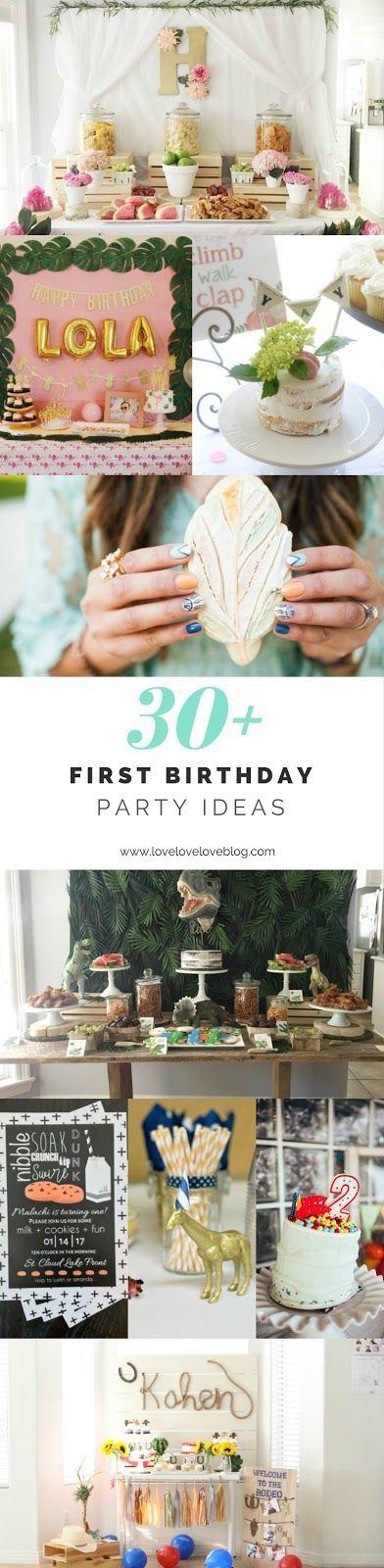 First birthday girl   first birthday boy   first birthday party ideas   first birthday party themes