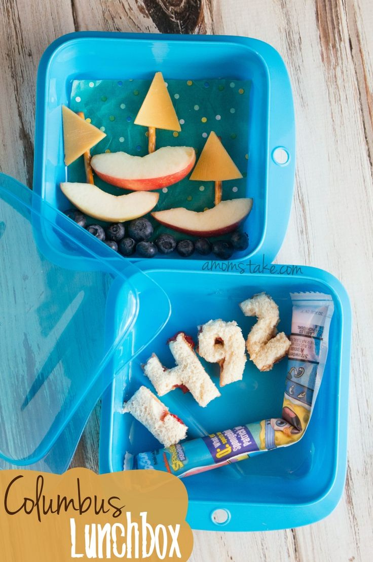 In 1492 Columbus sailed the ocean blue... pack this cute bento lunchbox to celebrate Columbus day!