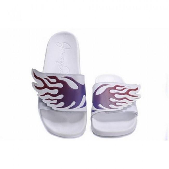 Femmes Adidas Jeremy Scott Wing Adilette Sandales Violet rouges €48,06 http://www.jeremyscottvip.com