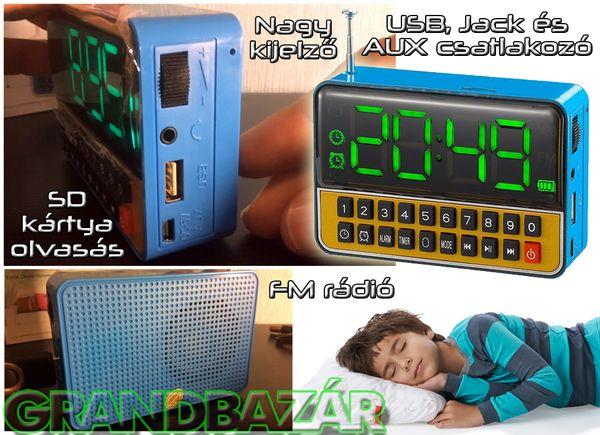4990 Ft. - Max box - mp3 lejátszó + FM rádió + óra+ ébresztő - extra nagy LED kijelzővel - Grandbazár