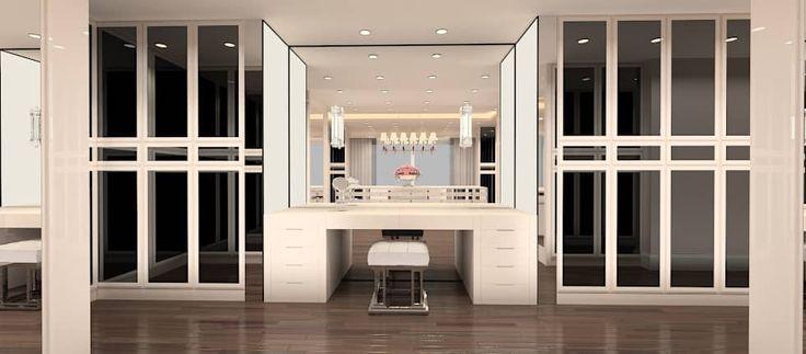 Kerim Çarmıklı İç Mimarlık – F.G. EVİ: modern tarz Giyinme Odası