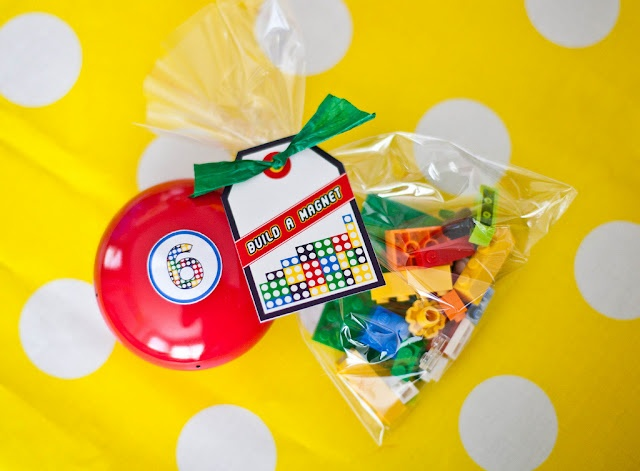 make your own lego magnet for loot bag