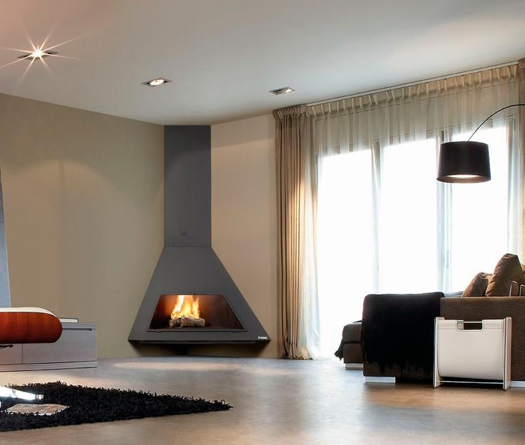 25 best ideas about chimeneas de obra on pinterest chimeneas chimenea de tv and repisas de - Chimeneas de pared modernas ...