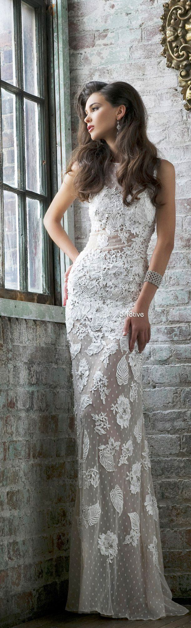 Beautiful, white lace gown