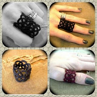 I don't care much for this pattern but I love the idea of making a ring :) ~Shii  (Needle tatting REPOSTED INFO)